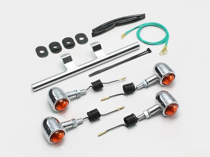 バイク用品 電装系 ウインカー&ウインカーバルブハリケーン ミニブレットウインカーキット シャドウSHURRICANE HA5430-01 取寄品