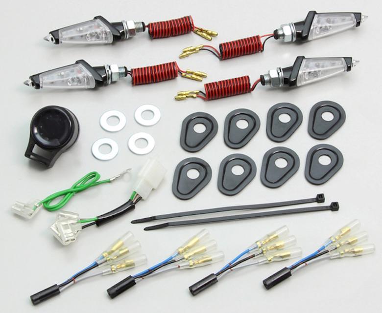 バイク用品 電装系 ウインカー&ウインカーバルブハリケーン LEDダガーウインカーキット BK C MT-07 MT09TRACERHURRICANE HA5228BC 取寄品