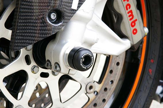 バイク用品 外装 ガード&スライダーベビーフェイス アクスルプロテクター フロント BLK KTM 690DUKE 12-13BABYFACE 006-AKT04BK 取寄品