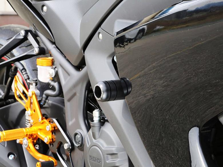 スーパーセール バイク用品 外装 ガード&スライダーベビーフェイス フレームスライダー スポーツライド YZF-R25 15-16BABYFACE 006-SY018Fa 取寄品