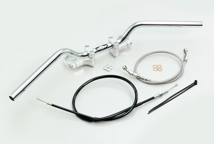 スーパーセール バイク用品 ハンドル ハンドルハリケーン ハンドルKIT(BMコンチ2)シルバー YZF-R25 ABS無し 15-16HURRICANE HBK684AS 取寄品
