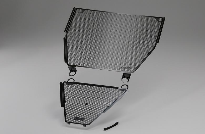スーパーセール バイク用品 冷却系 ラジエターAELLA ラジエター&オイルクーラープロテクターセット ブラック ドゥカティ PanigaleV4 Sアエラ AE-56135-BK 取寄品