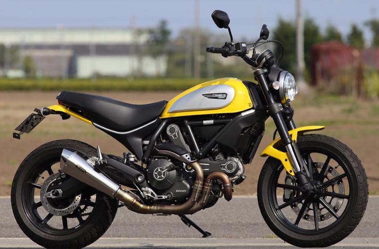 スーパーセール バイク用品 マフラー 4ストスリップオン&ボルトオンマフラーAELLA スリップオンマフラー スクランブラー800アエラ AE-42020 取寄品