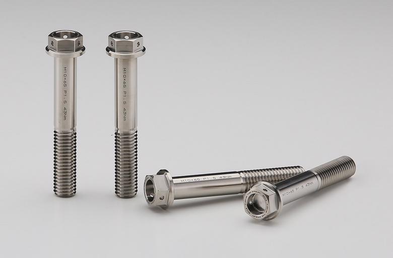 セール バイク用品 メンテナンス ボルト/ナット/小物類AELLA チタンボルト(Fキャリパーラジアルマウント) M10X65 P1.5(4本)アエラ AT-BM001 取寄品