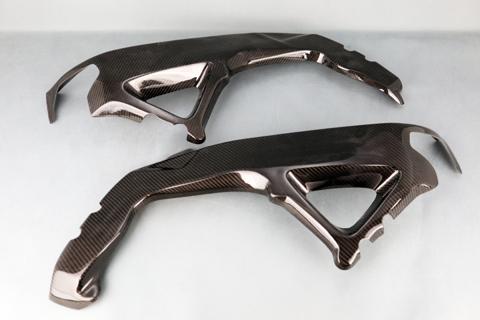 バイク用品 外装 フェンダーA-TECH フレームヒートガード(クリア塗装) KDC TUONO 15-エーテック AP00615-KD 取寄品 セール
