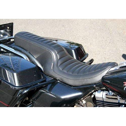スーパーセール バイク用品 外装 シートEASYRIDERS パイソンダブルシート 97- FLHRイージーライダース H0323 取寄品