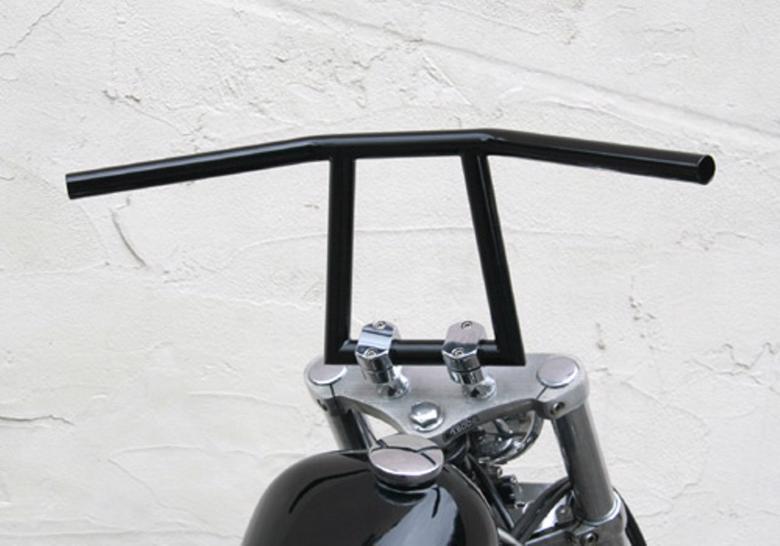 スーパーセール バイク用品 ハンドル ハンドルEASYRIDERS 8インチ アタックバー スチール 黒 1φ へこみ無イージーライダース 0718-BK 取寄品