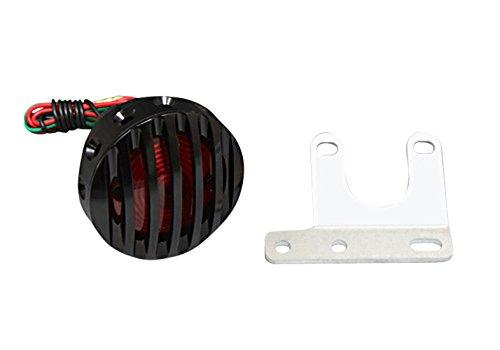 セール バイク用品 電装系 テールランプ/関連パーツEASYRIDERS ドリルドフィンテールライト&フィンフェイス set BLK BLK スタンディング用イージーライダース 5905-ABK 取寄品