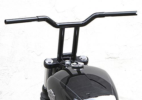 スーパーセール バイク用品 ハンドル ハンドルEASYRIDERS 10インチスーパーライザーバー1-1 4φ スチール ブラック へこみ有イージーライダース 0845-BK 取寄品