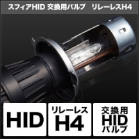 バイク用品 電装系 ヘッドライト&ヘッドライトバルブスフィアライト HID交換用バルブ H4 Hi Lo リレーレス 8000KSPHERELIGHT SHDLC080 取寄品