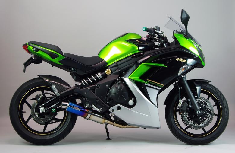 スーパーセール バイク用品 マフラー 4ストフルエキゾーストマフラーサンセイレーシング フルエキゾースト ステン チタン Ninja400 14(EBL-EX400E)SANSEIRACING 0-22-ZFT4411J 取寄品