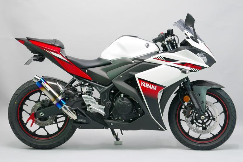 スーパーセール バイク用品 マフラー 4ストスリップオン&ボルトオンマフラーサンセイレーシング リアエキゾースト ステン 陽極酸化チタン YZF-R3 R25 ABS MT-03 25SANSEIRACING 0-22-ZST2222J 取寄品