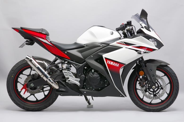 スーパーセール バイク用品 マフラー 4ストスリップオン&ボルトオンマフラーサンセイレーシング リアエキゾースト ステンレス ステンレス YZF-R3 R25 ABS MT-03 25SANSEIRACING 0-22-ZSS2222J 取寄品