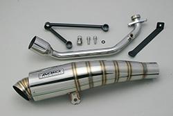 スーパーセール バイク用品 マフラー 4ストフルエキゾーストマフラーアディオ BB-SHOOTマフラー ステンレス Cygnus-X 4型 BWs125 インナーフェンダーステー付ADIO BK11206 取寄品