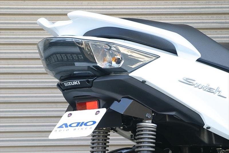セール バイク用品 外装 フェンダーアディオ フェンダーレスキット Swish DV12BADIO BK41313 取寄品