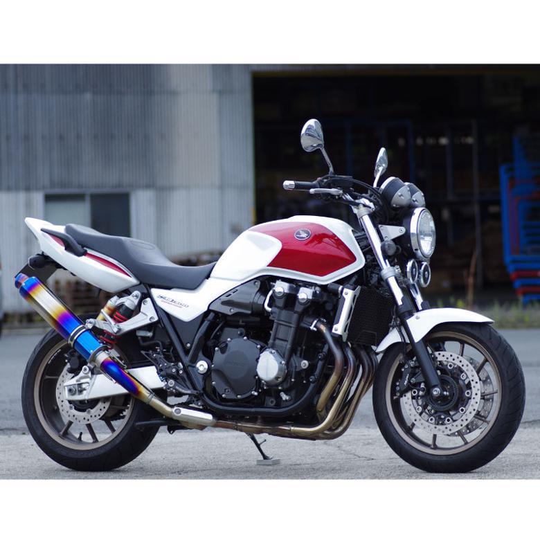 バイク用品 マフラー 4ストフルエキゾーストマフラーマーベリック スリップオン政府認証グラデーション CB1300SF SB 03-16MAVERICK MV102SOA 取寄品