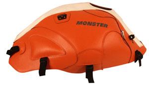 バイク用品 ケース(バッグ) キャリア 車両用ソフトバッグBAGSTER タンクカバー オレンジ ホワイト MONSTER400 600 750 900 1000 S4 S2R S4Rバグスター 1405J 取寄品