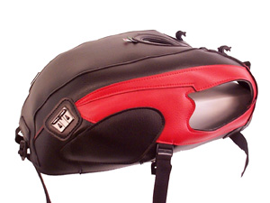スーパーセール バイク用品 ケース(バッグ) キャリア 車両用ソフトバッグBAGSTER タンクカバー ブラック レッド W650バグスター 1377C 取寄品