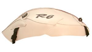 バイク用品 ケース(バッグ) キャリア 車両用ソフトバッグBAGSTER タンクカバー ホワイト レッド YZF-R6 06-07バグスター 1515B 取寄品
