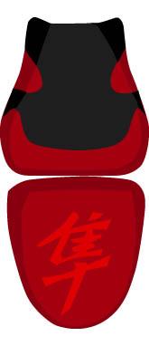 バイク用品 外装 シートBAGSTER シートカバー RED BLK RED GSX1300R HAYABUSA 07バグスター 2105Z 取寄品