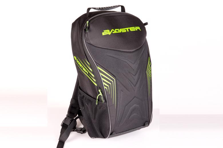 バイク用品 鞄&リュックサック&財布 リュックサックBAGSTER リュックサック RACER 20L ブラック グリーンバグスター XSD189 取寄品