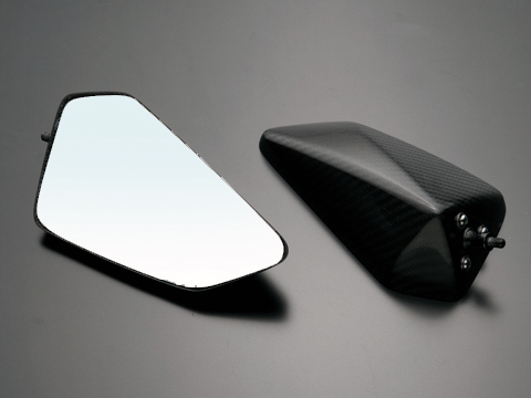 スーパーセール バイク用品 ハンドル ミラーA-TECH 固定カーボンシャフトLOW逆セット DRYカーボンミラー T4 N用エーテック PMT4-NC2-1 取寄品