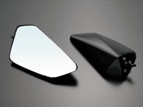 スーパーセール バイク用品 ハンドル ミラーA-TECH 固定カーボンシャフトLOWセット DRYカーボンミラー T4 N用エーテック PMT4-NC2 取寄品