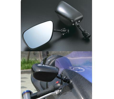 スーパーセール バイク用品 ハンドル ミラーA-TECH FA DRYカーボンミラー Type1(M) GSX1300Rハヤブサエーテック PMT1-M-7 取寄品