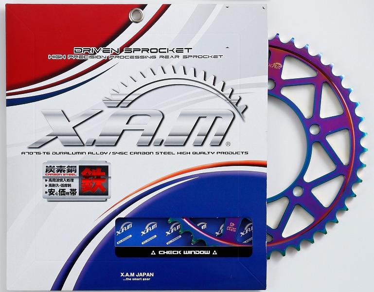 スーパーセール バイク用品 駆動系 リアスプロケットXAM NEWスチール スプロケット 525-45 525-45ザム B5105R45 取寄品