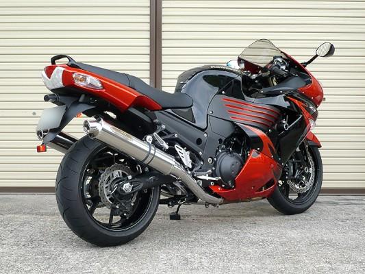 スーパーセール バイク用品 マフラー 4ストスリップオン&ボルトオンマフラーテックサーフ ZEEX S O デュアル ポリッシュチタン ZZ-R1400 ZX-14 06-11techserfu T23-K024-0417 取寄品