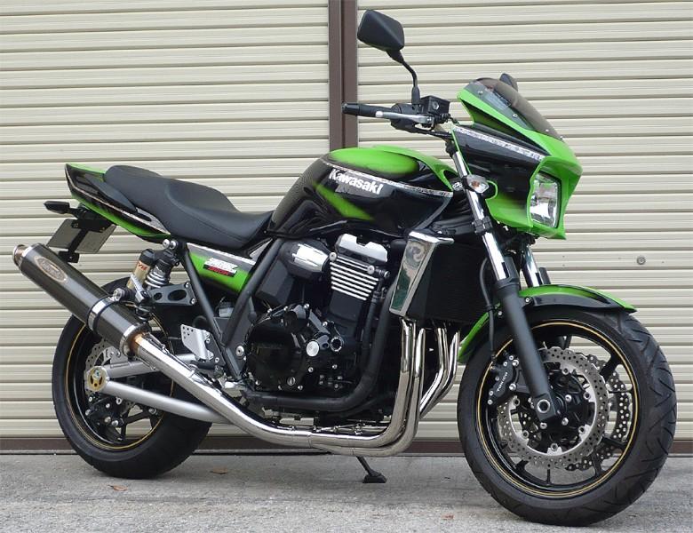 スーパーセール バイク用品 マフラー 4ストフルエキゾーストマフラーテックサーフ ZEEX フルEX カーボンサイレンサー ZRX1200 DAEG 09-techserfu T21-K025-0102 取寄品