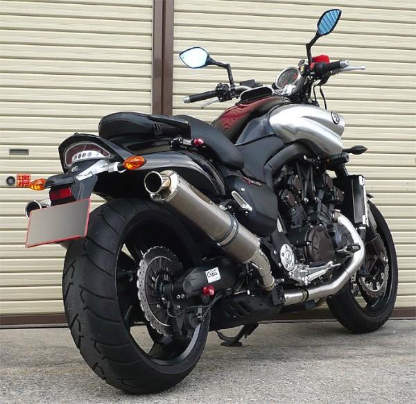 スーパーセール バイク用品 マフラー 4ストスリップオン&ボルトオンマフラーテックサーフ ZEEX S O デュアル ソリッドチタン V-MAX1700 09-techserfu T23-Y026-0217 取寄品