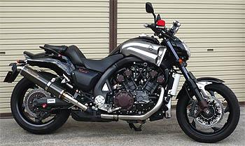 スーパーセール バイク用品 マフラー 4ストスリップオン&ボルトオンマフラーテックサーフ ZEEX S O デュアル カーボン V-MAX1700 09-techserfu T23-Y026-0117 取寄品