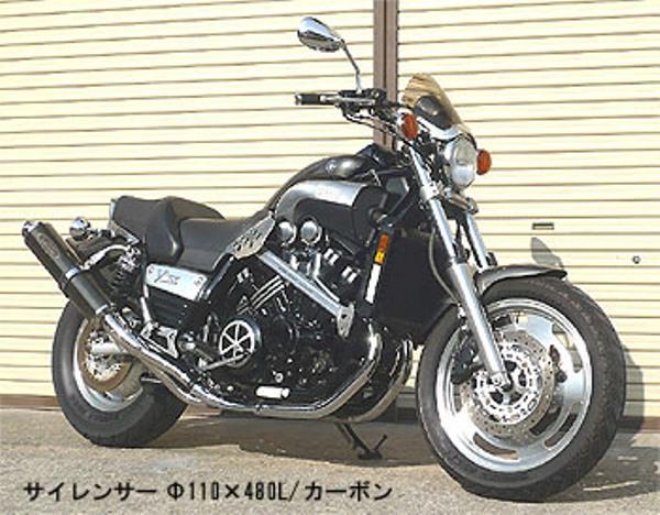 スーパーセール バイク用品 マフラー 4ストスリップオン&ボルトオンマフラーテックサーフ ZEEX S O デュアル カーボン V-MAX1200techserfu T23-Y027-0117 取寄品