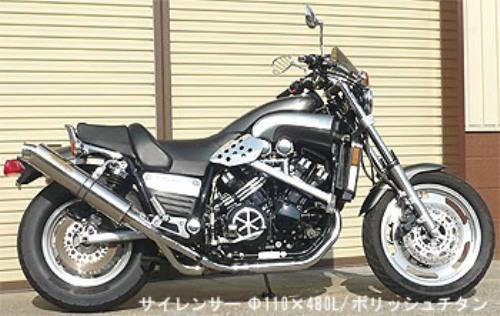 スーパーセール バイク用品 マフラー 4ストスリップオン&ボルトオンマフラーテックサーフ ZEEX S O デュアル ポリッシュチタン V-MAX1200techserfu T23-Y027-0417 取寄品
