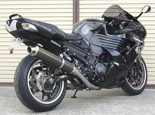 スーパーセール バイク用品 マフラー 4ストスリップオン&ボルトオンマフラーテックサーフ ZEEX S O ワンテール カーボン ZZ-R1400 ZX-14 06-11techserfu T23-K029-0117 取寄品