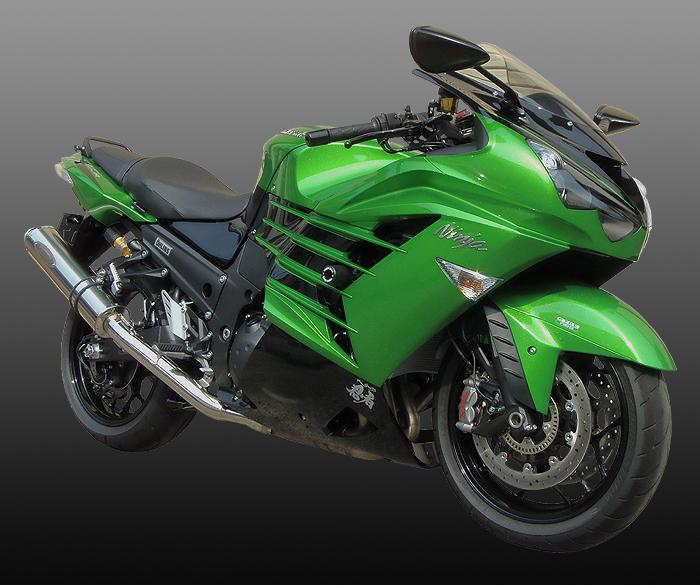 スーパーセール バイク用品 マフラー 4ストスリップオン&ボルトオンマフラーテックサーフ ZEEX S Oワンテール ポリッシュチタン ZX-14R 12- φ110X480techserfu T23-K031-0417 取寄品