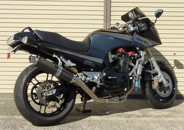 スーパーセール バイク用品 マフラー 4ストフルエキゾーストマフラーテックサーフ ZEEX フルEX カーボン UP GPZ900R φ100X400techserfu T21-K032-0108 取寄品