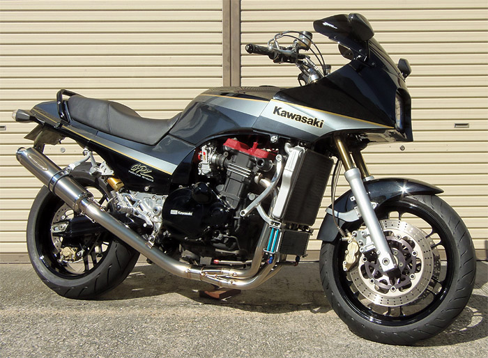 スーパーセール バイク用品 マフラー 4ストフルエキゾーストマフラーテックサーフ ZEEX フルEX ソリッドチタン UP GPZ900R φ100X400techserfu T21-K032-0208 取寄品