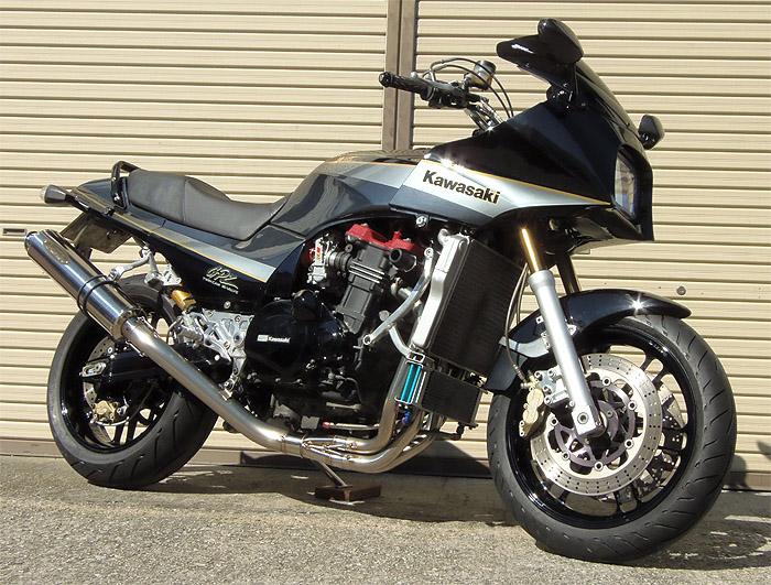 スーパーセール バイク用品 マフラー 4ストフルエキゾーストマフラーテックサーフ ZEEX フルEX ポリッシュチタン UP GPZ900R φ110X480techserfu T21-K032-0408 取寄品
