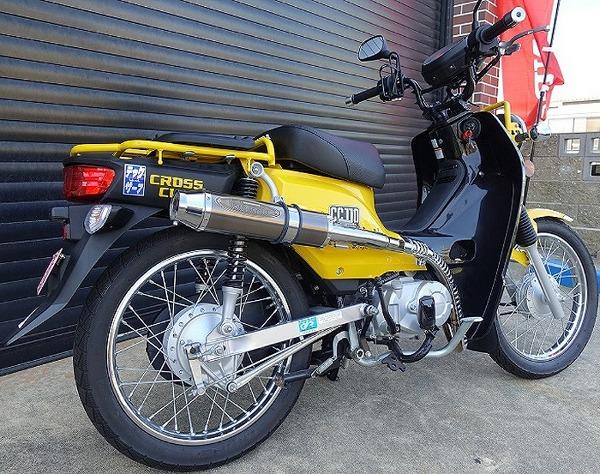 スーパーセール バイク用品 マフラー 4ストフルエキゾーストマフラーテックサーフ ZEEX CUB JA10 CROSSCUBtechserfu T26-H033-0226 取寄品