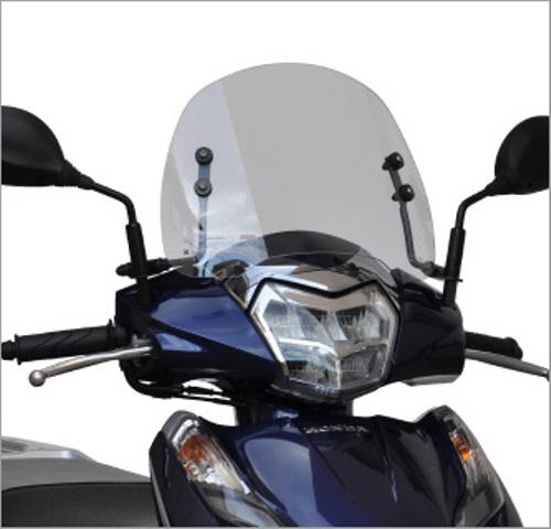 スーパーセール バイク用品 外装 スクリーン旭風防 エ-エフアサヒ アサヒフウボウ LE-28 ショートバイザー LEAD125 2BJ-JF45AF-ASAHI LE-28 取寄品