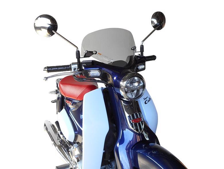 セール バイク用品 外装 スクリーン旭風防 エ-エフアサヒ アサヒフウボウ メーターバイザー スーパーカブ C125AF-ASAHI C125-08 取寄品