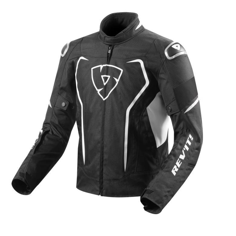 バイクパーツ モーターサイクル オートバイ セール バイク用品 ウェア ジャケットレブイット ヴェルテクス H2O ジャケット ブラック ホワイト SREVIT FJT245-1600-S 取寄品