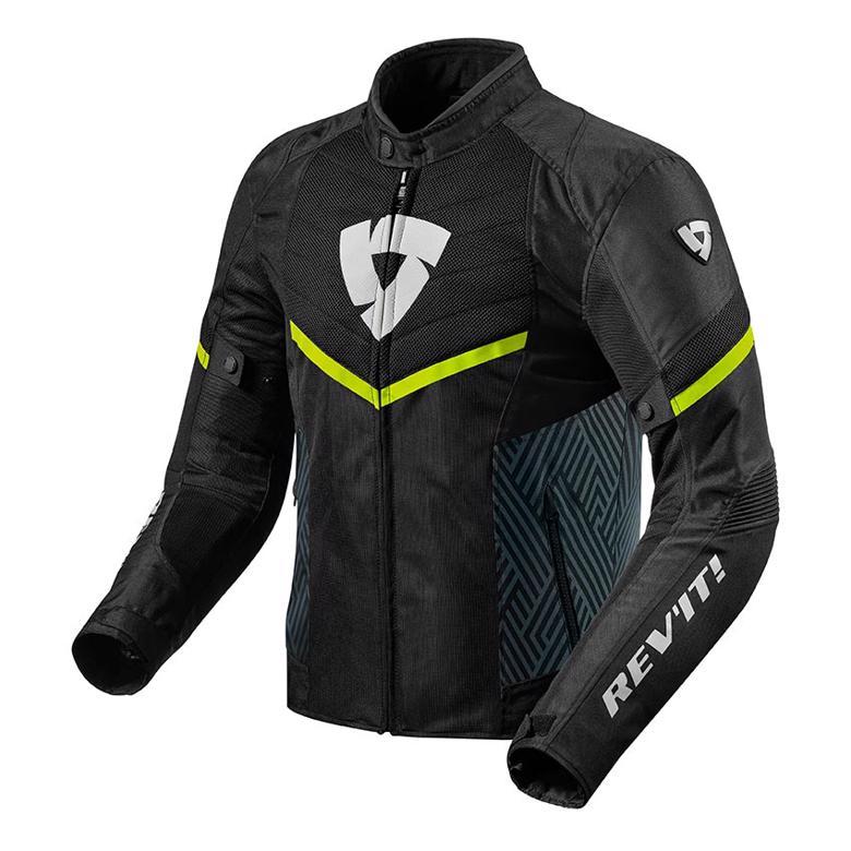 バイクパーツ モーターサイクル オートバイ セール バイク用品 ウェア ジャケットレブイット ARC エア ジャケット ブラック ネオンイエロー SREVIT FJT255-1450-S 取寄品