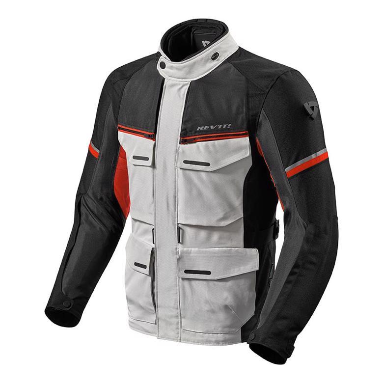 バイクパーツ モーターサイクル オートバイ セール バイク用品 ウェア ジャケットレブイット アウトバック3 ジャケット シルバー レッド MREVIT FJT262-4020-M 取寄品