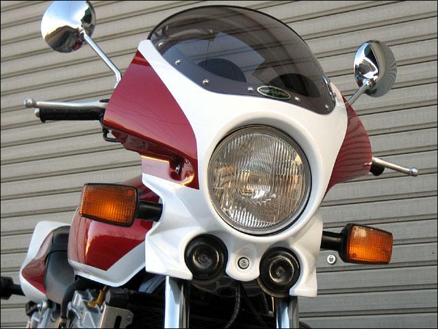 スーパーセール バイク用品 外装 カウルシックデザイン マスカロード ホワイト レッド クリア CB1000SFCHIC DESIGN MQ01-RD/W 取寄品