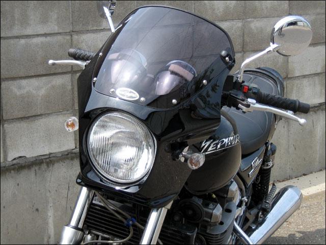 スーパーセール バイク用品 外装 カウルシックデザイン マスカロード ルミナスポラリスBLU スモーク ZEPHYR1100CHIC DESIGN MQ110-LPBL/2 取寄品