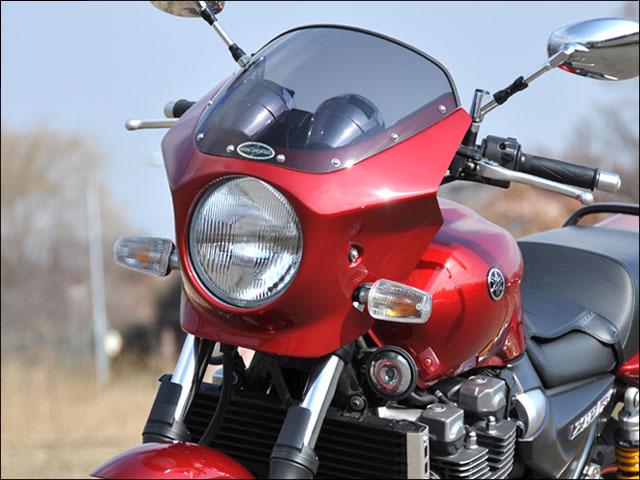 スーパーセール バイク用品 外装 カウルシックデザイン マスカロード ブルーイッシュSLV4 スモーク XJR1300 02CHIC DESIGN MQ33-BLSV4/2 取寄品