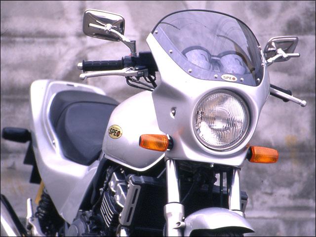 バイクパーツ モーターサイクル オートバイ スーパーセール バイク用品 外装 カウルシックデザイン ロードコメット ホワイト レッド クリア CB400SF -98CHIC DESIGN RC02A-RD/W 取寄品